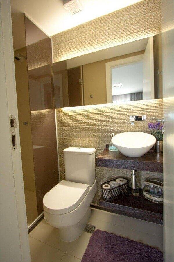 banheiros pequenos decorados com revestimento 3D Foto Daniela Wechoreki