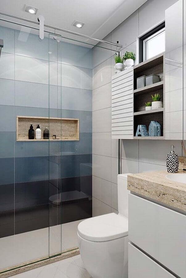 banheiros pequenos e modernos Foto Pinterest