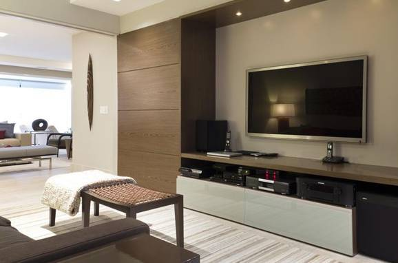 casas modernas com home theater