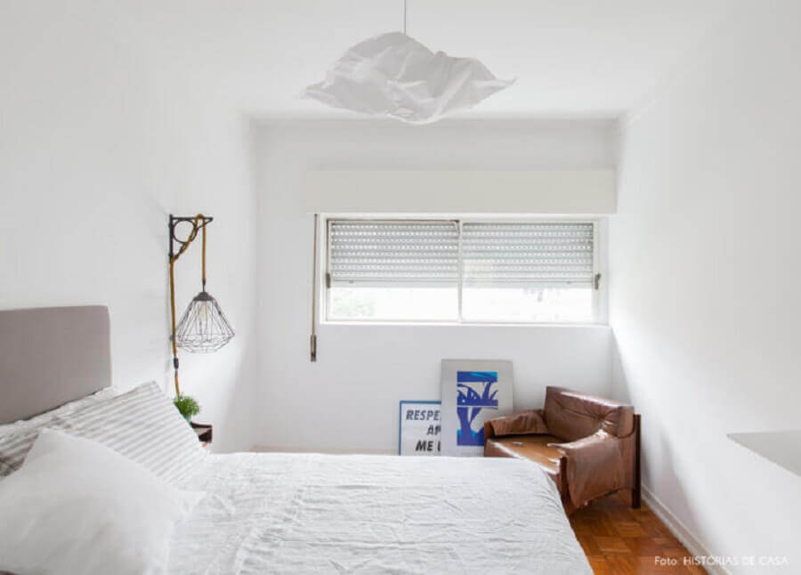 design diferente de lustre para quarto clean