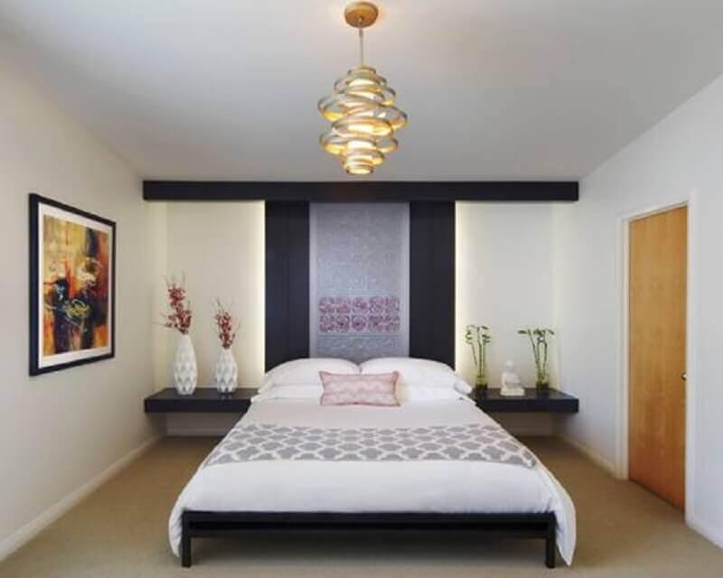 design diferente e arrojado de lustres para quarto de casal