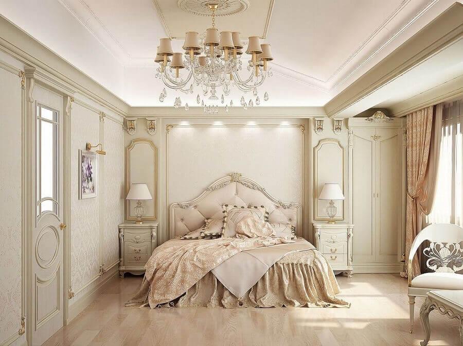modelos de lustres para quarto de casal com decoração sofisticada