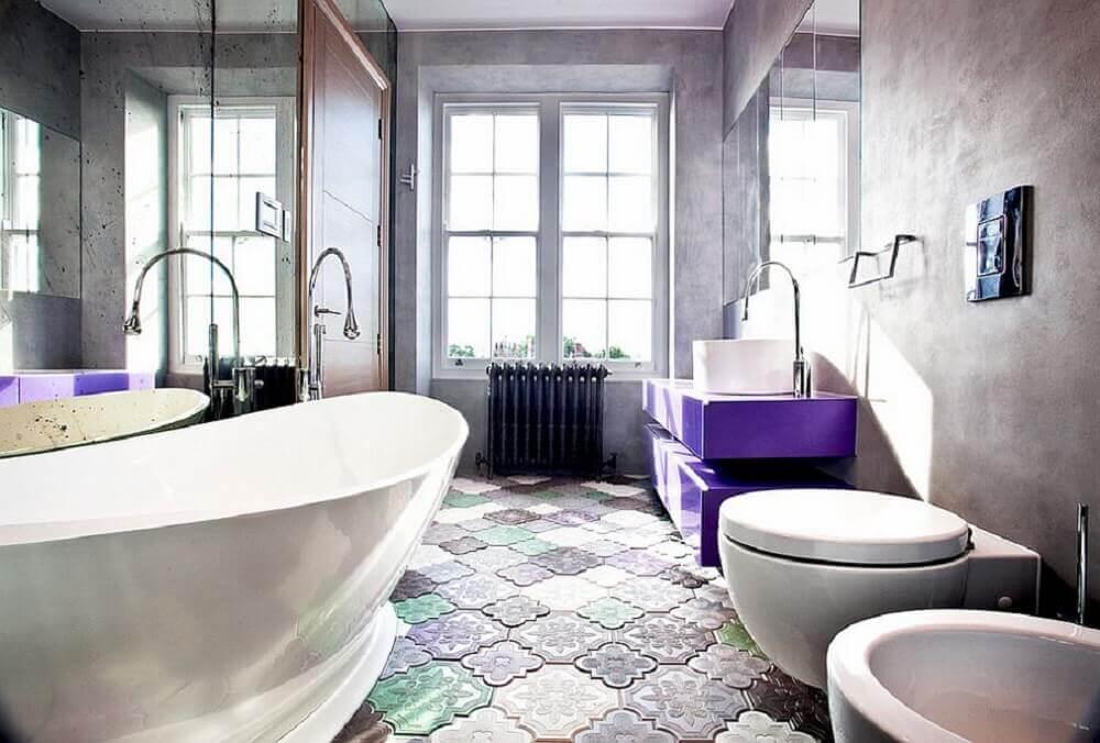 pisos diferentes para banheiro