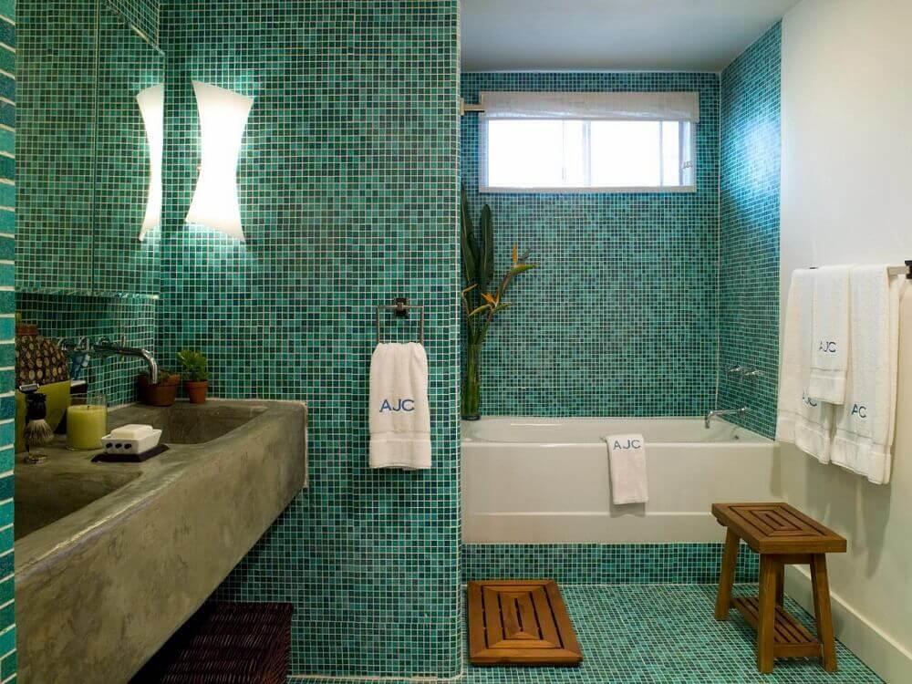 piso para banheiro de pastilha