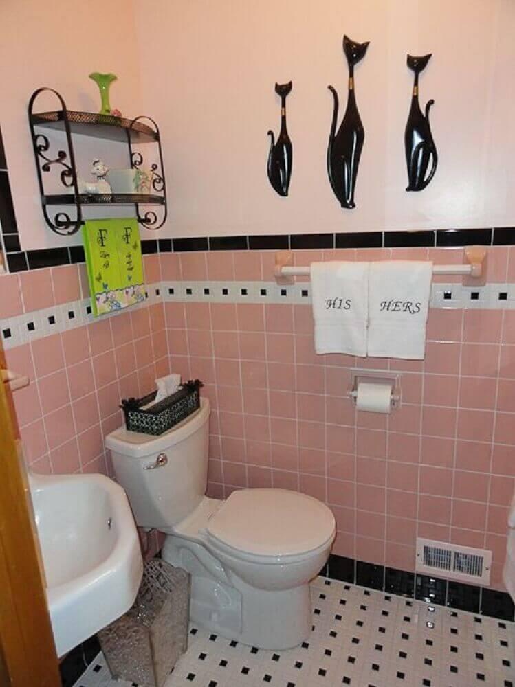Pisos para banheiro preto e branco