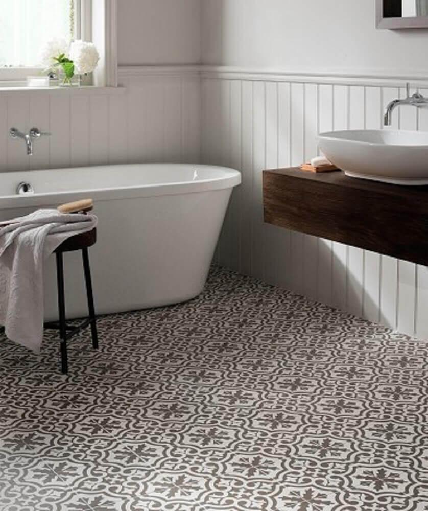 pisos para banheiro retrô