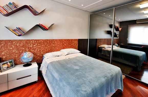 prateleiras para quarto de casal zigue zague