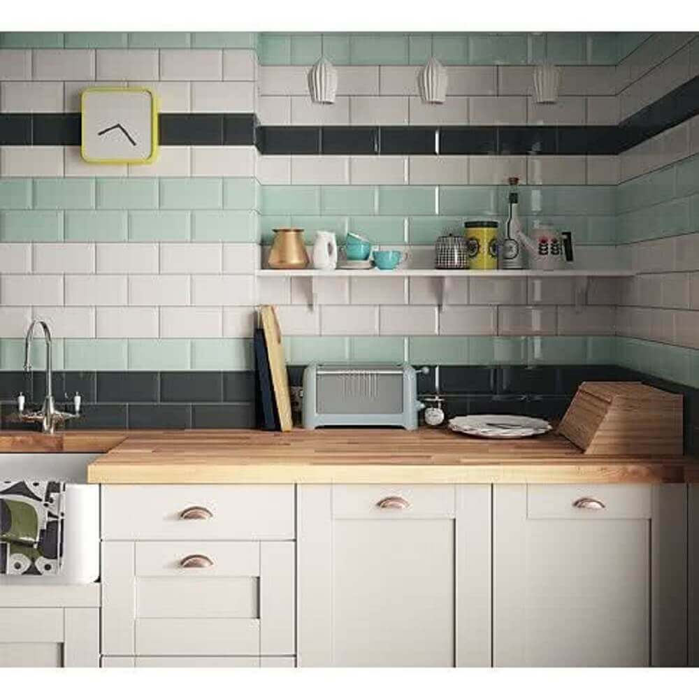 revestimento para cozinha de azulejo