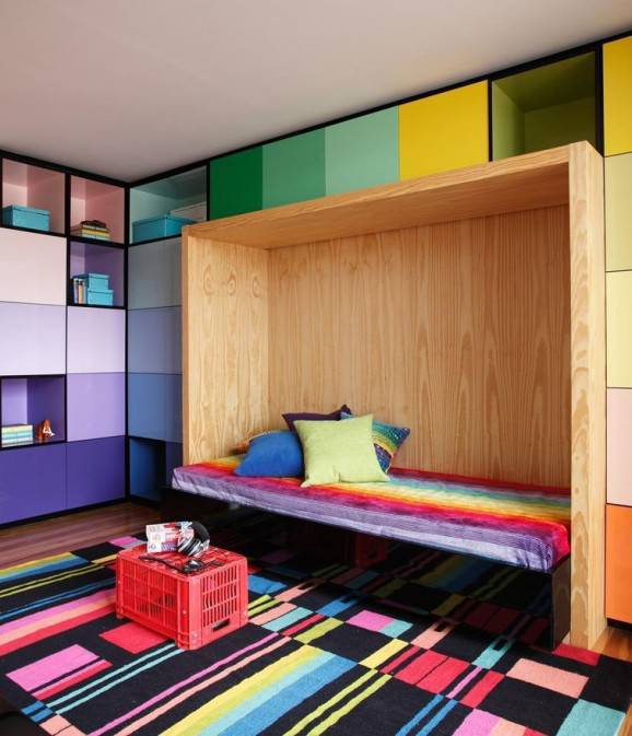 tapete para quarto colorido