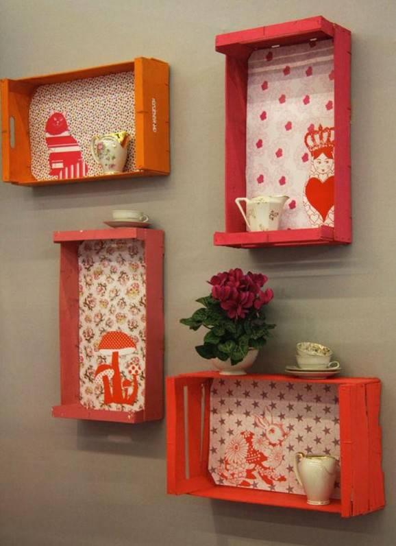 Ideias de decoração Caixotes de madeira