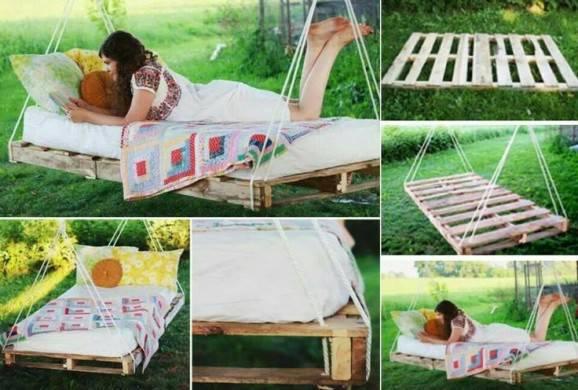 cama suspensa de pallets faça você mesmo decoração