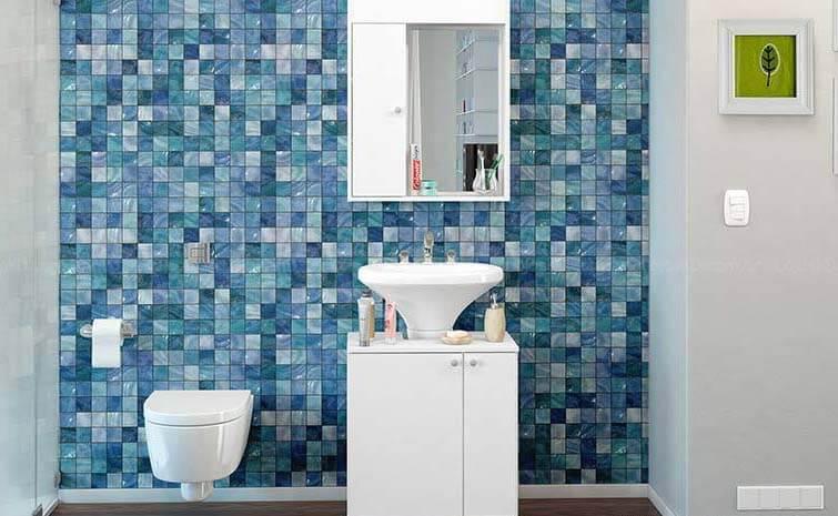 Azulejos para banheiro azul