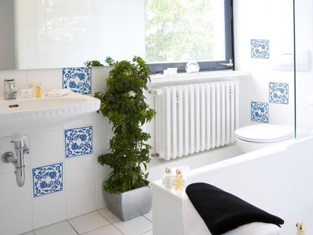 Azulejos para banheiro com adesivo vínilico