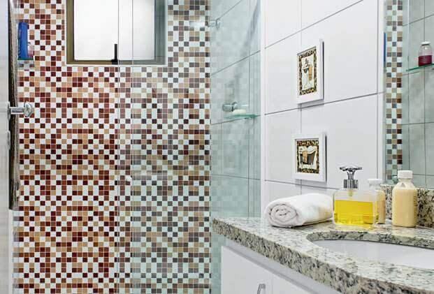 Azulejos para banheiro com adesivos