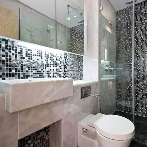 Azulejos para banheiro preto