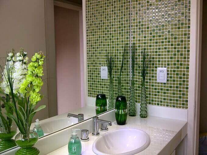 Azulejos para banheiro verde pastilha
