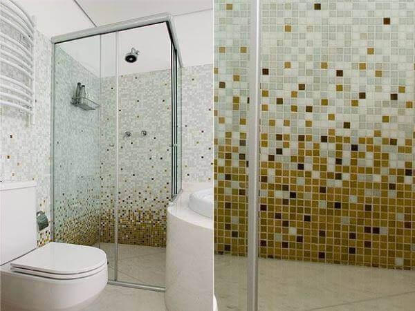 Azulejos para banheiro vidro amarelo