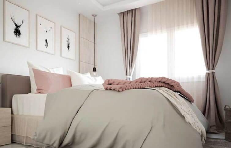 Cortinas para quarto de casal sofisticado