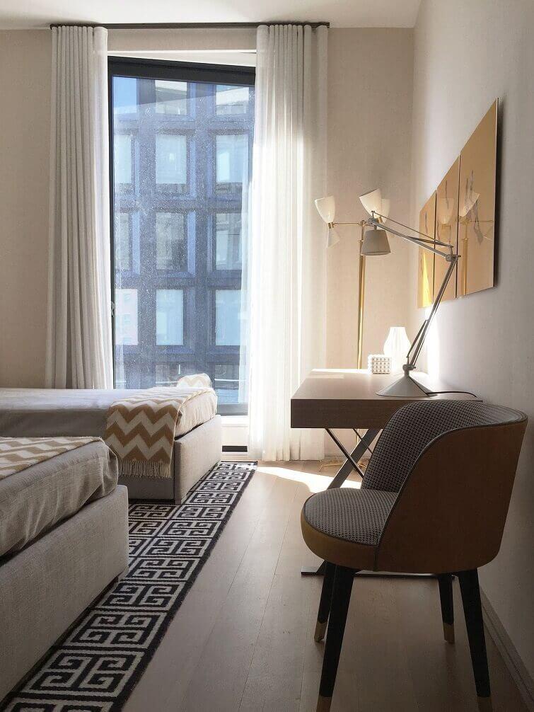 Cortinas para quarto moderno