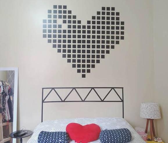 paredes decoradas cabeceira para a decoração de dia dos namorados
