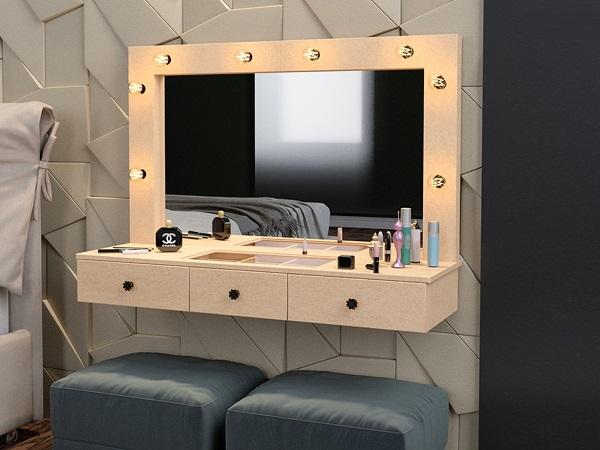 Penteadeiras modernas de parede