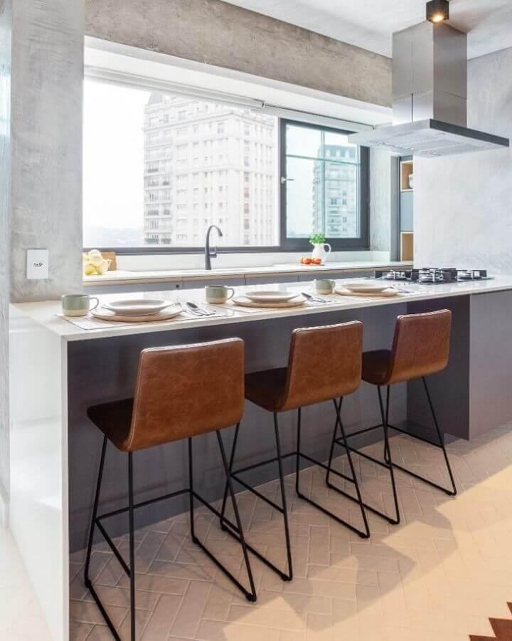 bancada para cozinha com cooktop Foto Vivivane Gobbato Arquitetura
