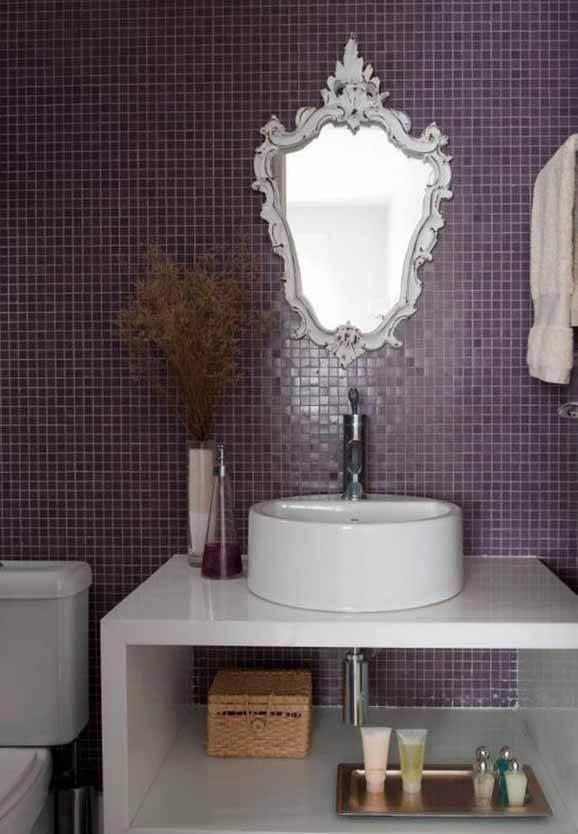 Decoração de banheiro com pastilhas para inspirar -> Decoracao De Banheiro Com Azulejos Antigos