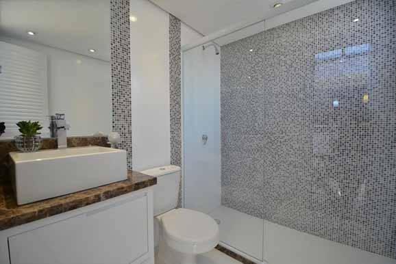 Decoração de banheiro com pastilhas para inspirar # Decoracao De Banheiro Ceramica