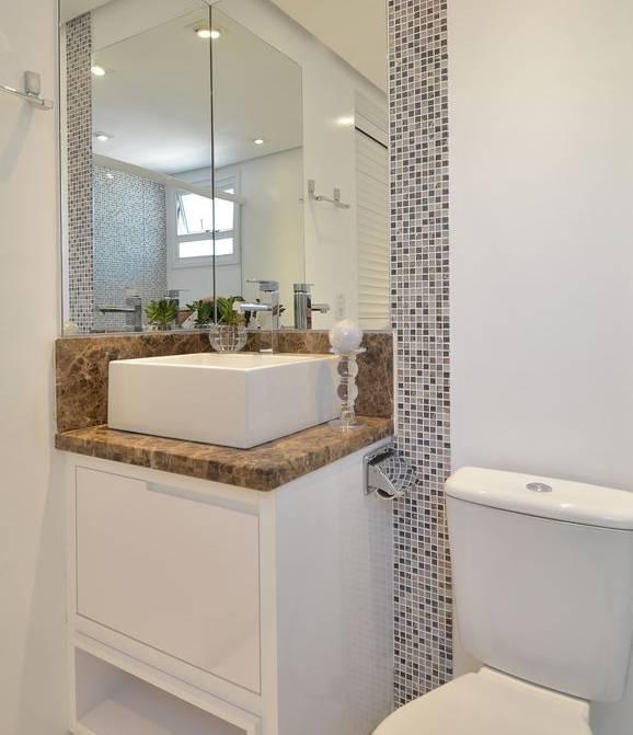Banheiro com pastilha fica mais charmoso -> Banheiro Com Azulejo Pastilha