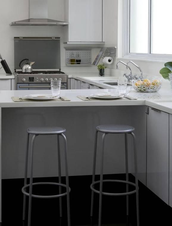 banquetas para cozinha cinza