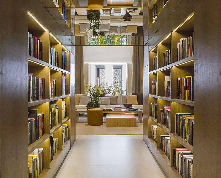 Biblioteca em casa, um bom lugar pra ler um livro