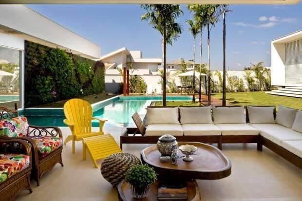 casas com piscina area de descanso externa leo romano 26562