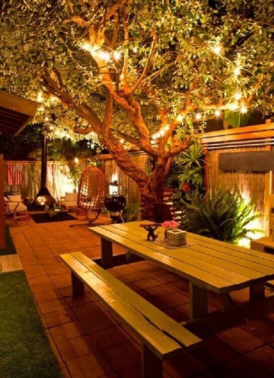 cordão de luz para iluminação de jardim