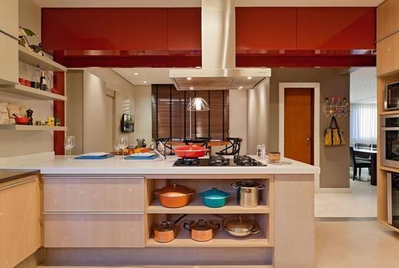 Decoração para cozinha americana