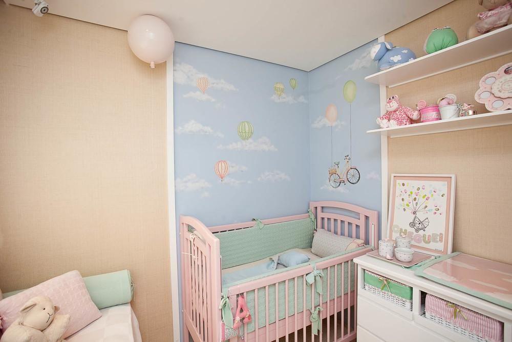 decoracao de quarto de bebe feminino berco rosa e ceu lucia tacla 75259