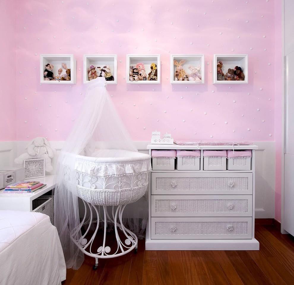 decoracao de quarto de bebe feminino com berço vime eduarda correa 78407