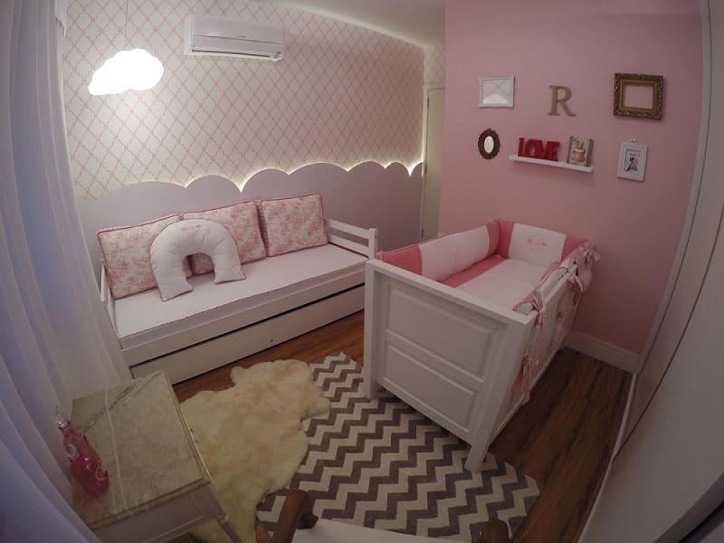 decoracao de quarto de bebe feminino com papel de parede arqexpress 107818