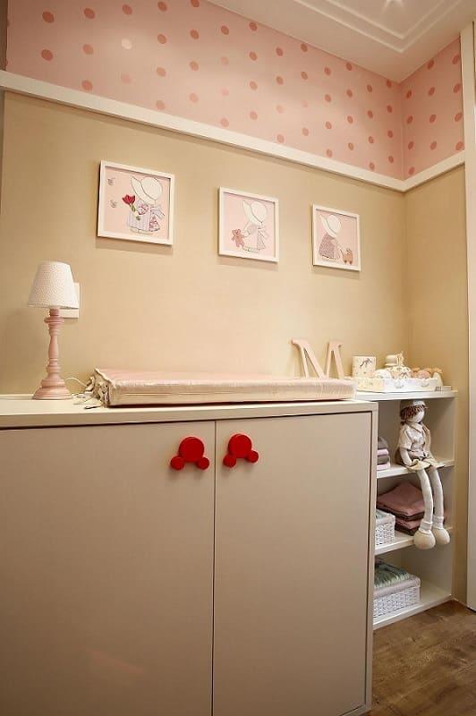 decoracao de quarto de bebe feminino com papel de parede marel 121741