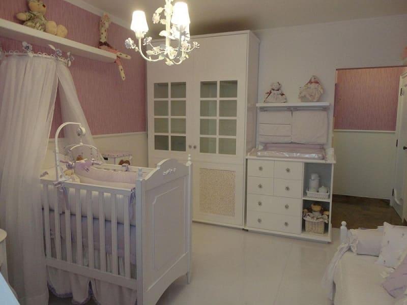 decoracao de quarto de bebe feminino moveis brancos fernanda guizi 15361