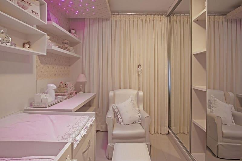 decoracao de quarto de bebe feminino pequeno led rosa ana cinthia lopes 11837