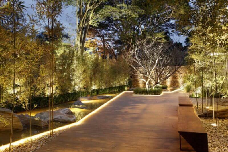 estilo moderno de iluminação de jardim