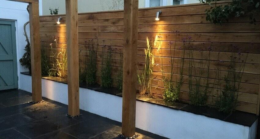 iluminação de jardim simples