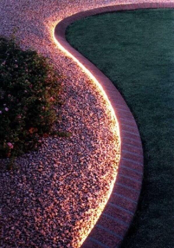 iluminação moderna para jardim