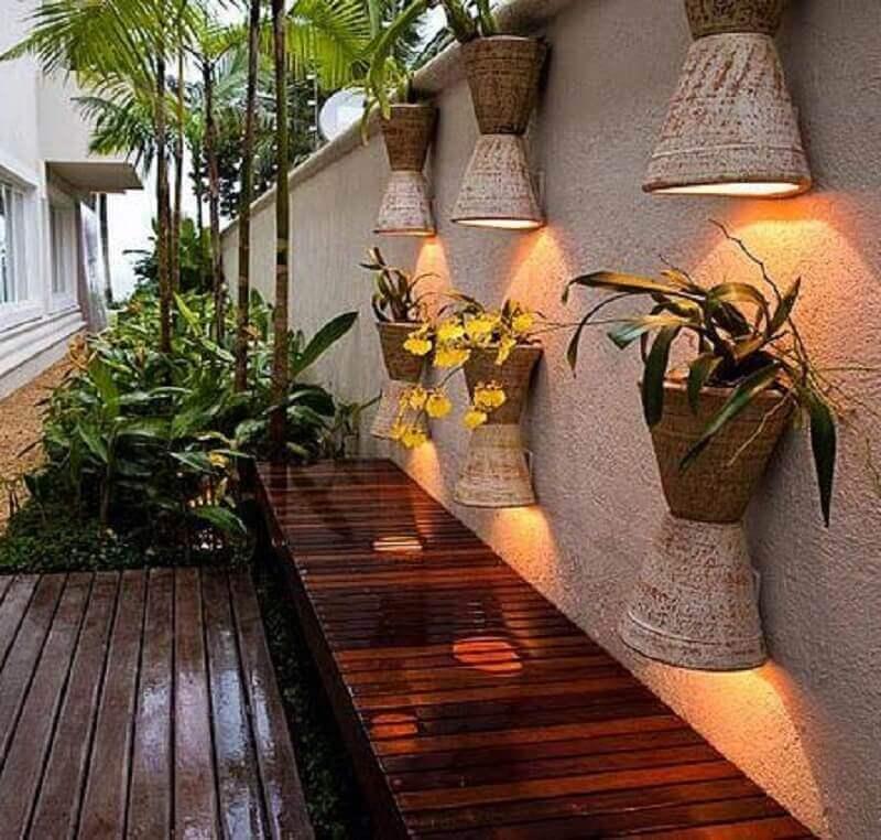 modelos de arandelas para iluminação de jardim