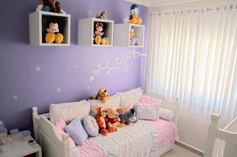 cortinas para quarto de menina