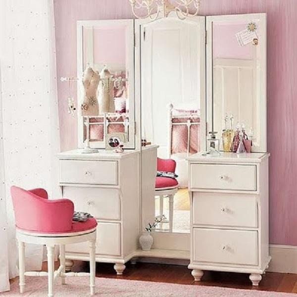 penteadeiras modernas com espelho grande