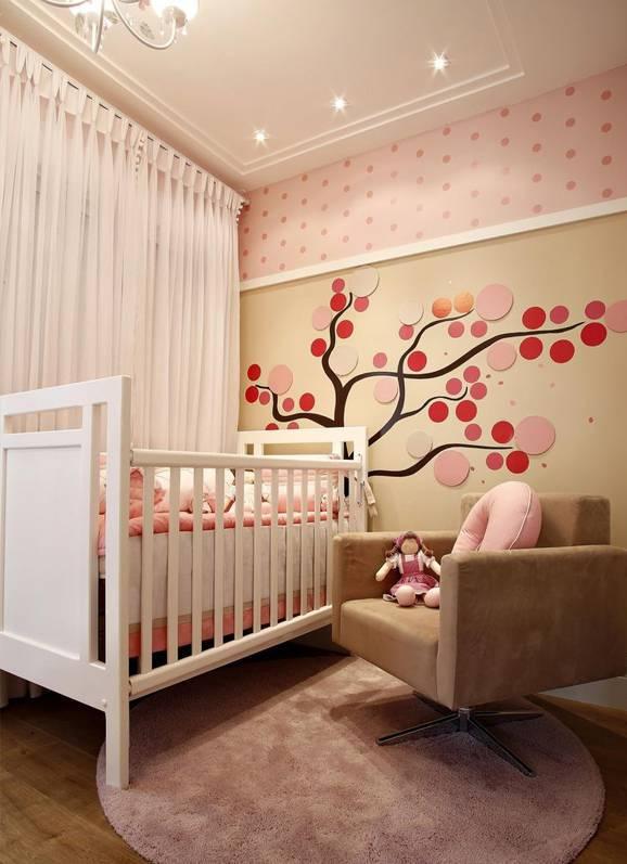 Decoração de quarto de bebê feminino: Detalhes na parede