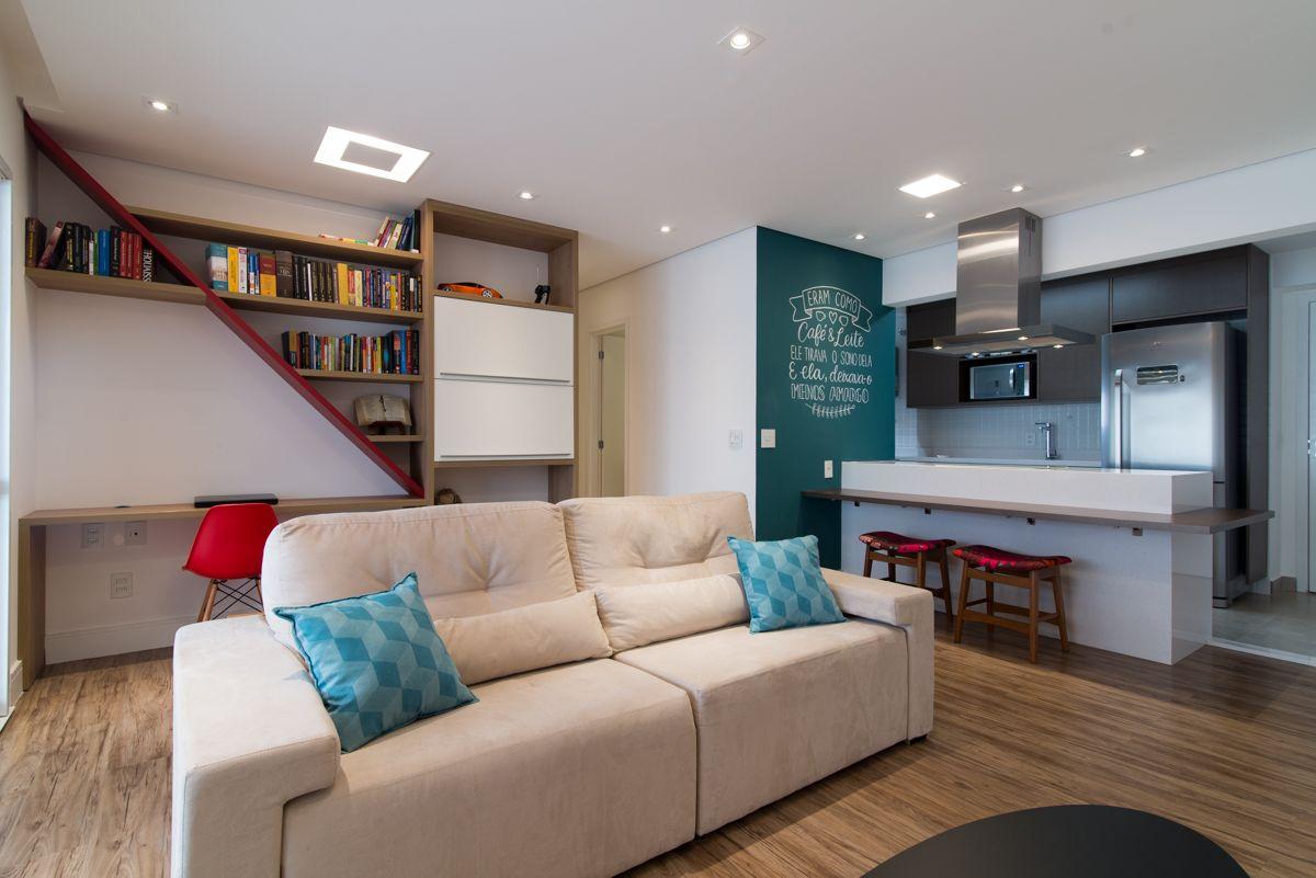 rebaixamento de gesso apartamento pequeno moussi arquitetura 150158