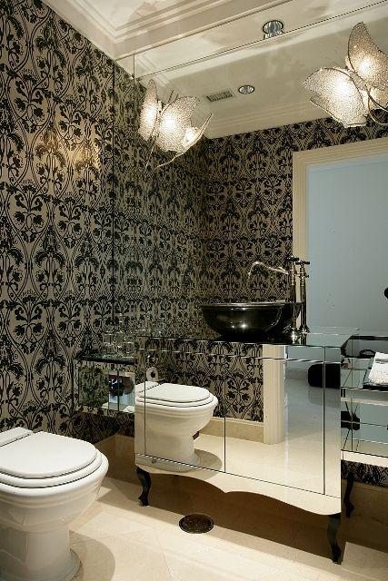 rebaixamento de gesso banheiro espelhado brunete fraccaroli 141294