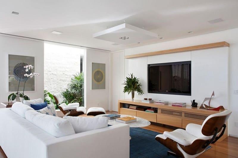 rebaixamento de gesso com plafon sala de estar paola ribeiro 25004
